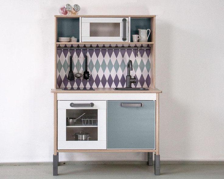 Möbelfolie RAUTIG: Pimp deine IKEA Kinderküche! von Limmaland - Kleben. Spielen. Leben. auf DaWanda.com