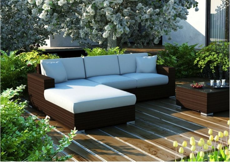 Garden seating from techno-rattan