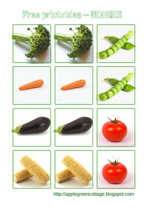 FREE printables for your toddler - practising matching and identifying identical pairs. The cards can be used as a memory game, for matching pairs, etc. Part 2 in a series: VEGGIES