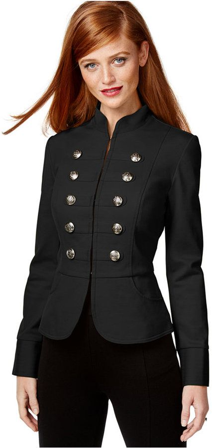 INC International Concepts Cutaway Military Jacket, Only at Macy's
