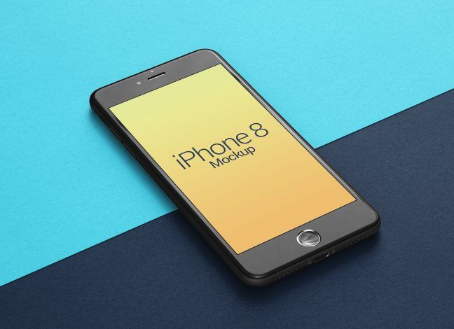 Free Perspective Apple Iphone 8 Mockup Psd Iphone Apple Iphone Iphone 8
