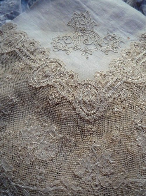 A group of nuns for years  create lovely lace in Ireland & I was lucky enough to find many of their creations at a auction