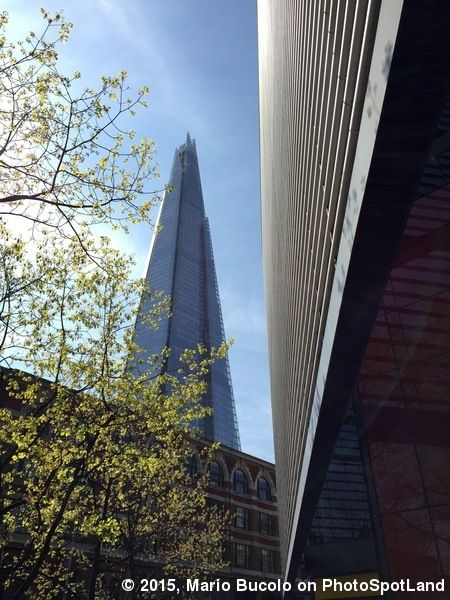 The Shard from More London The Shard, designed by Renzo Piano viewed from More London and with the contrast with old buildings. PhotoSpot by Mario Bucolo. See more on http://photospotland.com/spots/414 #London #TheShard #architecture #photography #spot #photospotland #architecturephotography