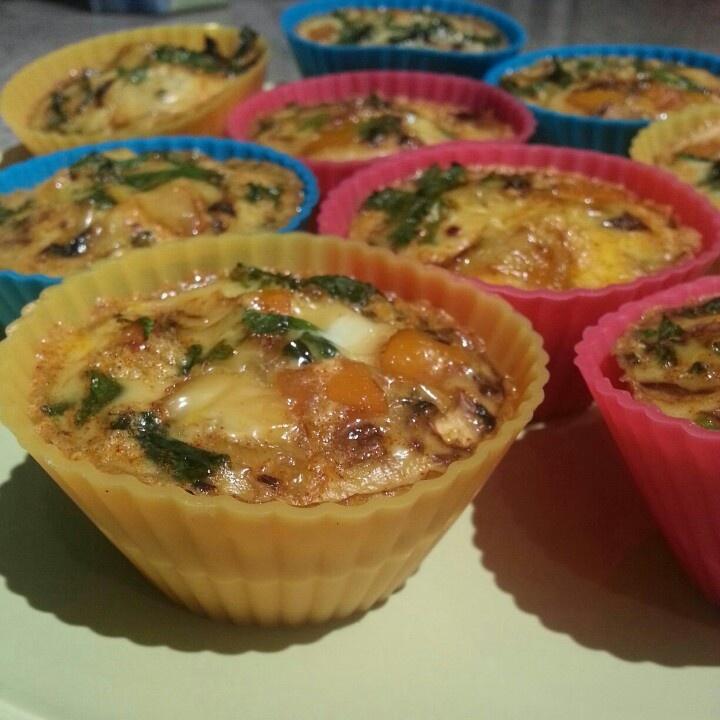 Breakfast for the Week: Mini Egg & Veggie Frittatas!