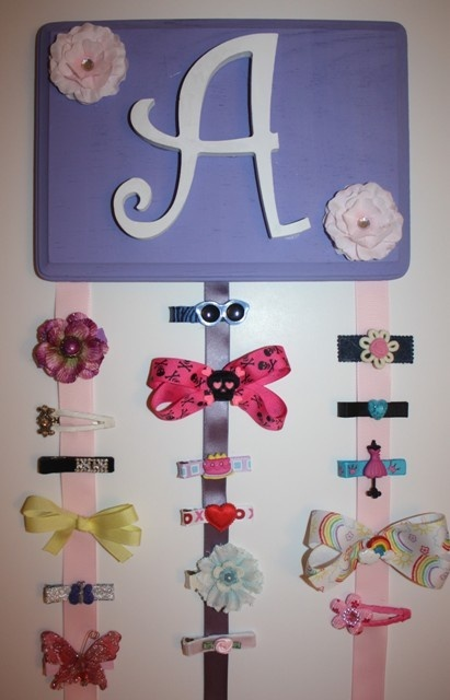 Cute way to organize bows! by reba