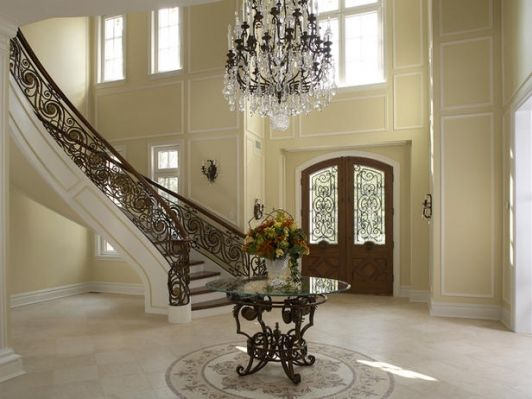 Two Story Foyer Paneling : Elegant two story foyer look at how nicely the front