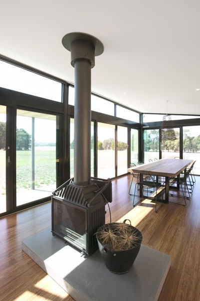 Cheminees Philippe Wood Heater- but built in & three sided please!!! :)