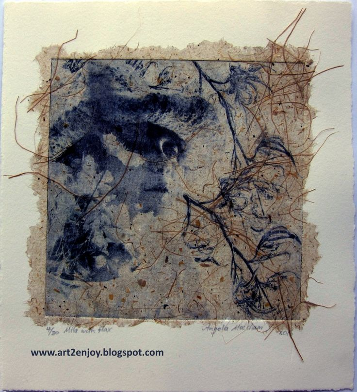 Photogravure etching with photo, drawings and chine colle flax paper.