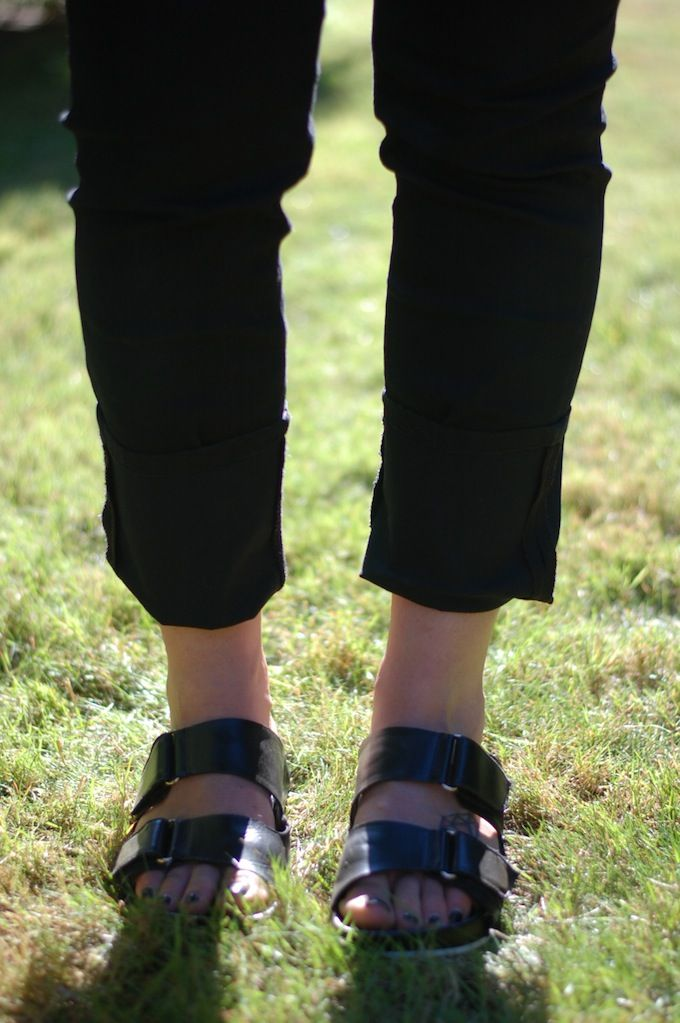 Calvin Klein Jeans and Aldo leather sandals. (See more at www.covetandacquire.blogspot.ca)