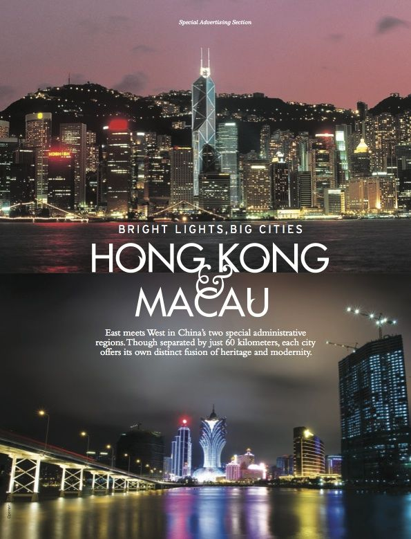 DestinAsian Magazine  Special Advertising Section Hong Kong & Macau Opener