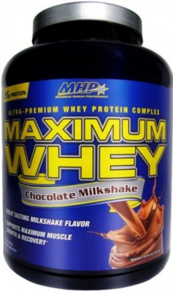 MHP Maximum, Whey protein supplement with an amazing milkshake taste. It support in Support Maximum Muscle Growth - Improve Muscular Recovery