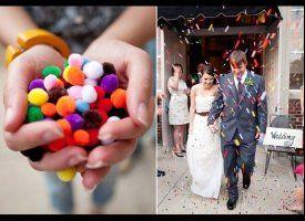 12 Creative Wedding Exit Toss Ideas