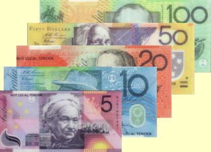 """""""Australian money is pretty :)"""" I love the green one best of all. S."""