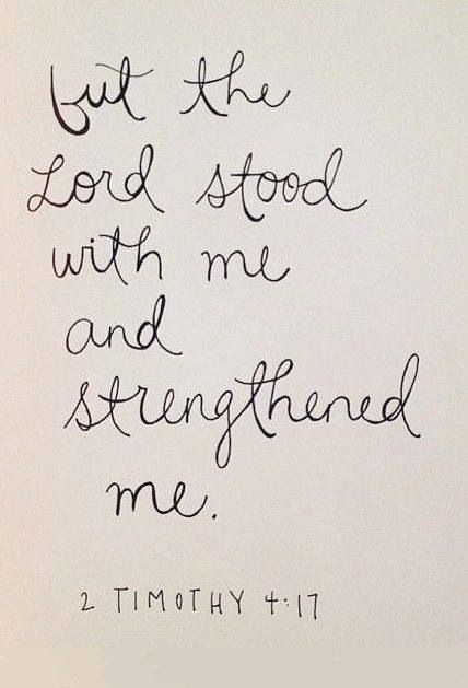 God is with me...