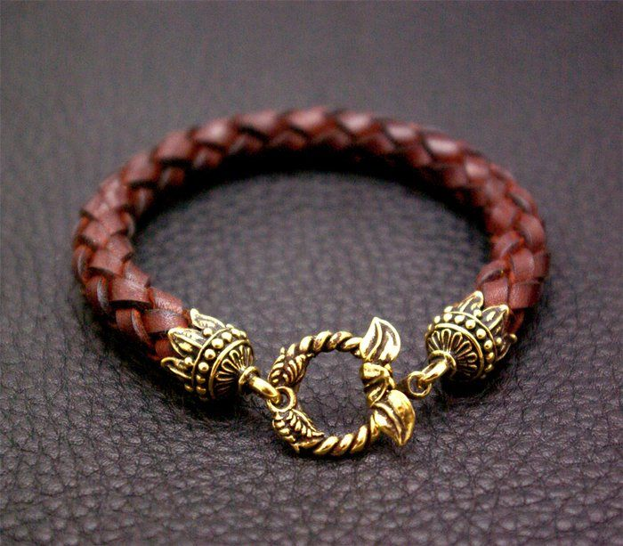 Leather Bracelet with Leaf Lock...Great quality and craftwork! You can place orde in our store www.chstd.com. We ship world wide.