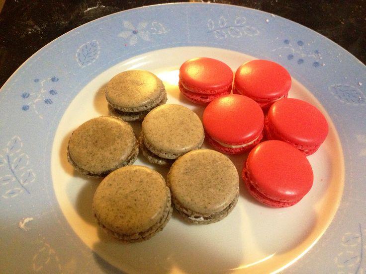 Cookies & Cream and Red Velvet macarons