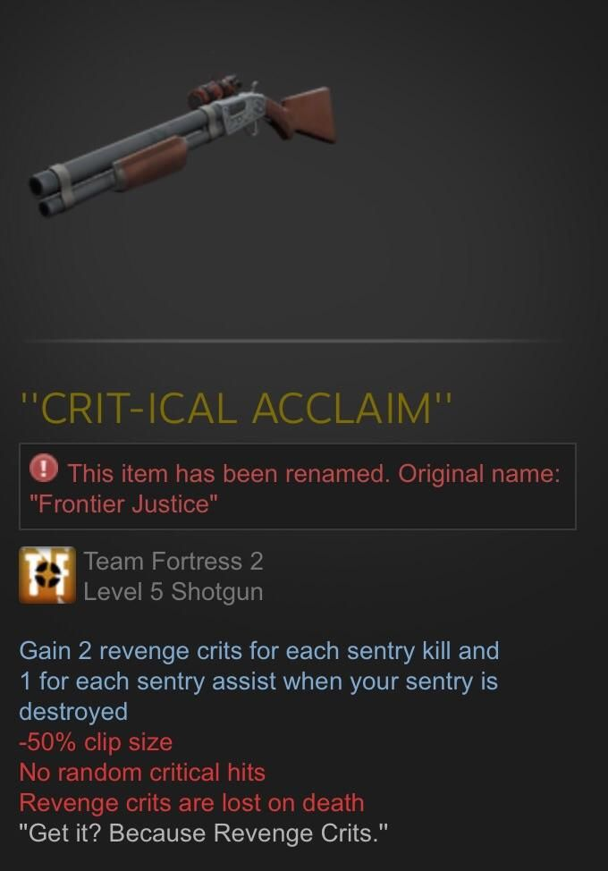 Are we still doing weapon names? #games #teamfortress2 #steam #tf2 #SteamNewRelease #gaming #Valve