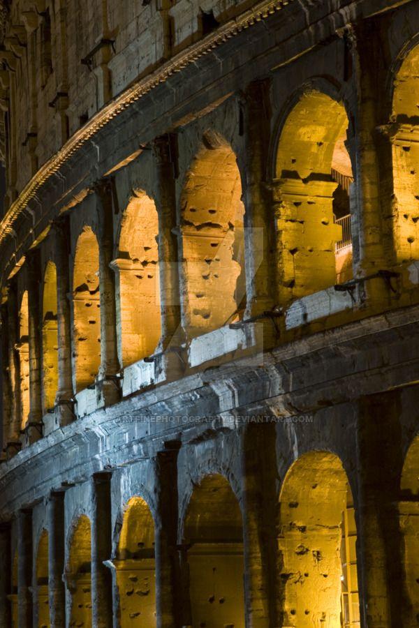Collosseum bu night Rome by artfinephotography.deviantart.com on @DeviantArt