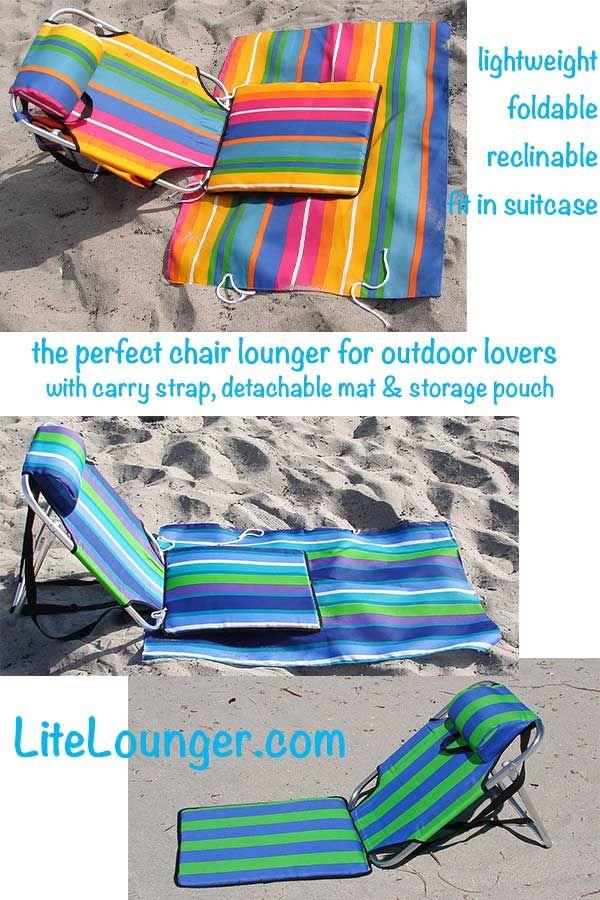 """$29 lightest beach chair 1.5 lb, detachable mat, width 15"""" x backrest 21"""""""