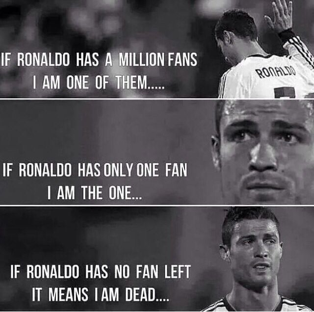 ❤️I Will Always Be A CR7 Fan❤ . Cristino RonaldoCristiano Ronaldo QuotesCr7  QuotesFootball MemesReal MadridFanPrincessAb ...