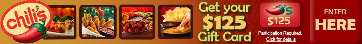 Free $125 Chilis Gift Card http://azfreebies.net/free-chilis-gift-card/