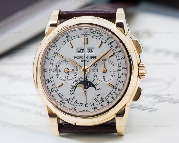European Watch Company: Patek Philippe Perpetual Calendar Chronograph 18K Rose…