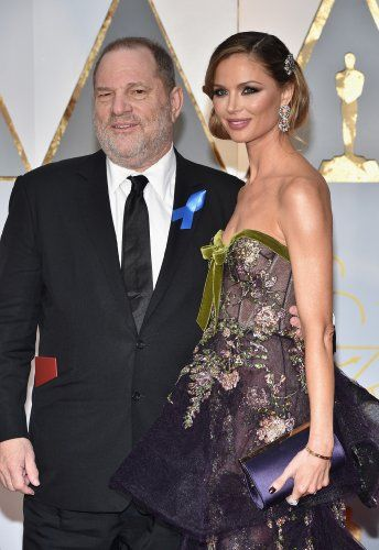Harvey Weinstein and Georgina Chapman at an event for The 89th Annual Academy Awards (2017)