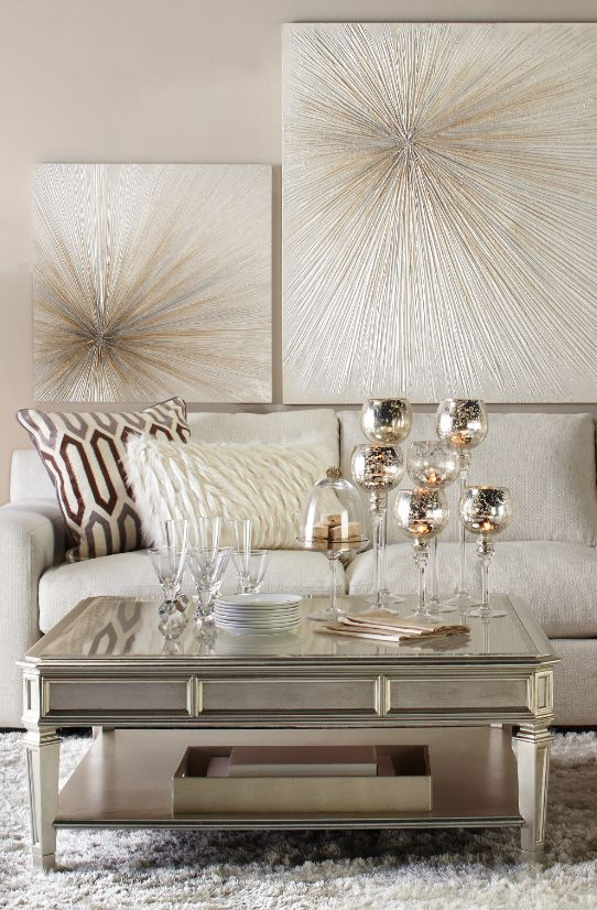 Refine With Shimmer The Empire Coffee Table Del Mar Sectional Wall PaintingsLiving Room