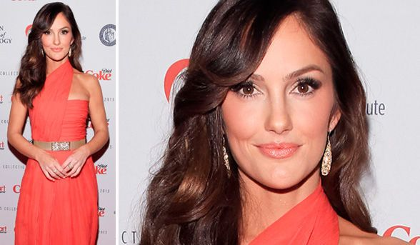 makeup for a coral dress   celebrity beauty   minka kelly proves why matchy-matchy make-up is a ...