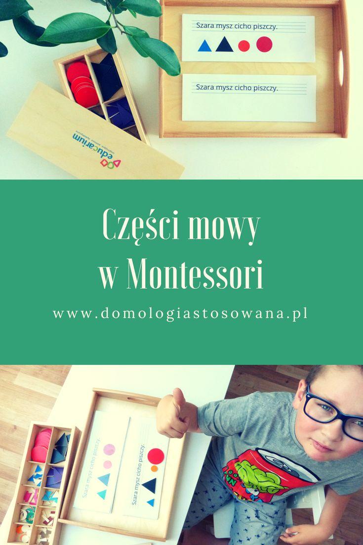 O moim dalszym odkrywaniu Montessori i o tym, w jaki sposób wygląda wprowadzanie części mowy według tej koncepcji pedagogicznej.