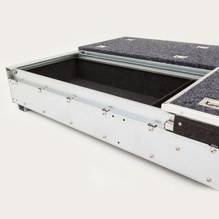 NEW Landcruiser 200 Series GXL Rear Steel Frame Storage Drawers With Carpet