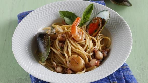 Спагетти с морепродуктами. Пошаговый рецепт с фото, удобный поиск рецептов на Gastronom.ru