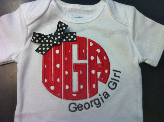 University of Georgia Shirt for Girls  Georgia by LaBarrieLittles. , via Etsy.