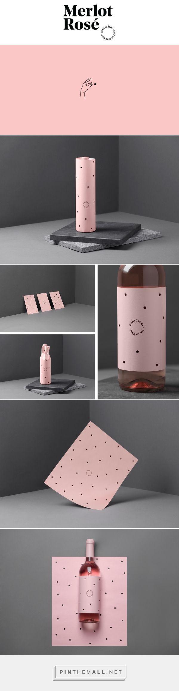 Duzsi Tamas Merlot Rose Wine Packaging by Kira Koroknai | Fivestar Branding Agency – Design and Branding Agency & Curated Inspiration Gallery