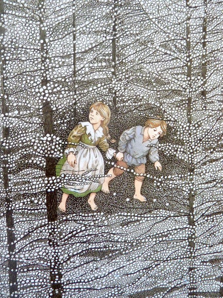 Hansel and Gretel children's book illustration//