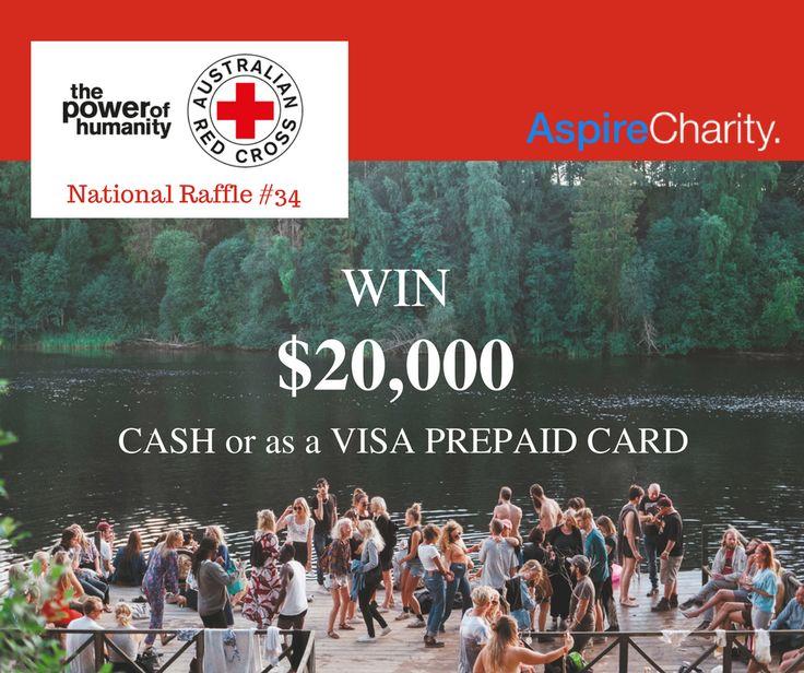 WIN $20K CASH or as a VISA PREPAID CARD. Australian Red Cross #34 https://aspirecharitygaming.com/australian-red-cross-34/ #redcross #charity #lottery #tickets #win