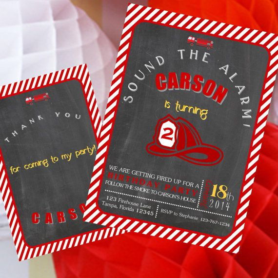 66 best images about Firetruck party – Fire Truck Party Invitations