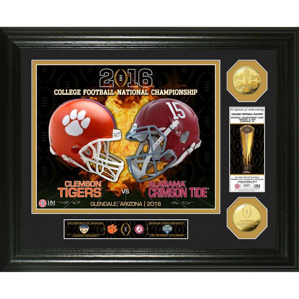 Clemson Tigers vs. Alabama Crimson Tide Highland Mint 2016 College Football Playoff National Championship Game Dueling Photomint - $99.99