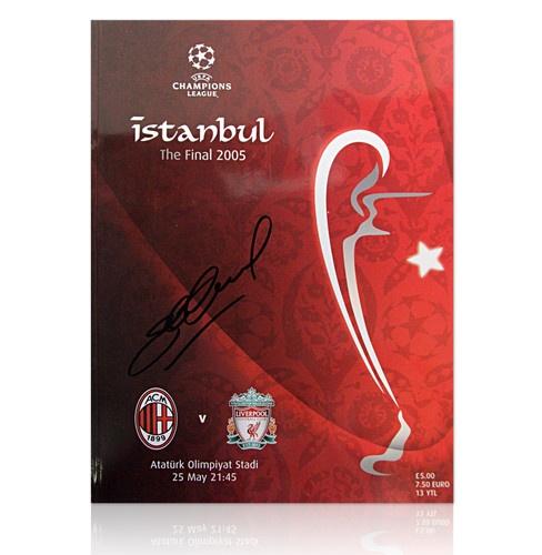 Steven Gerrard signed Istanbul 2005 CL Final programme