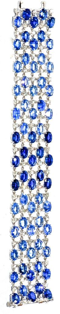 Euro Antique Sapphire & Diamond Bracelet
