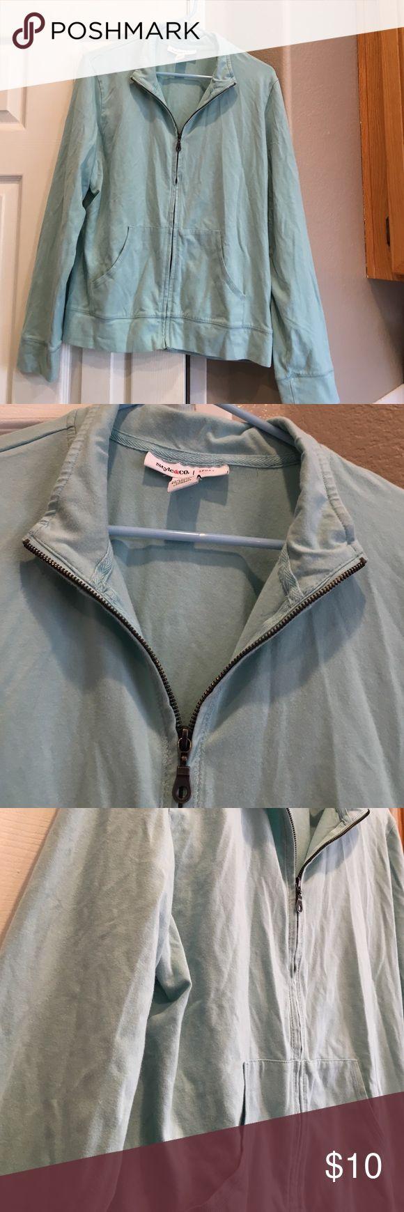 Style & Co Zip up Casual zip up. No hood. Slip pockets. Style & Co Tops Sweatshirts & Hoodies