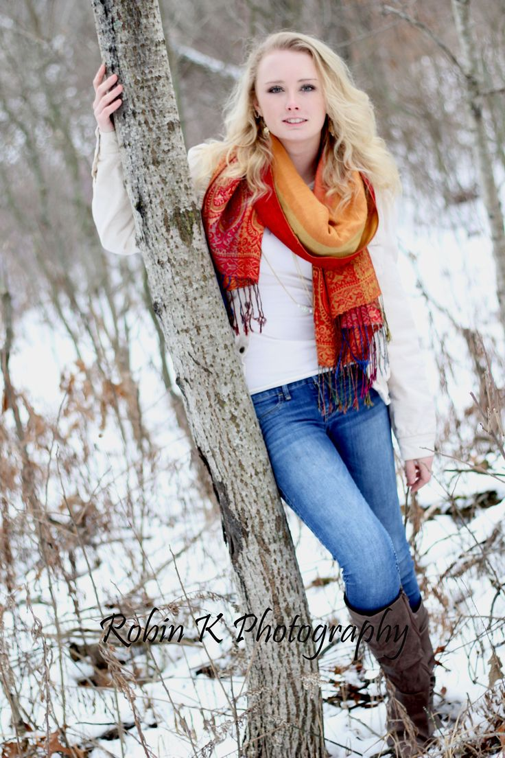 winter senior photo