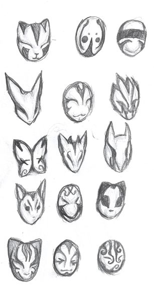 ANBU Masks by ~Ansemaru on deviantART