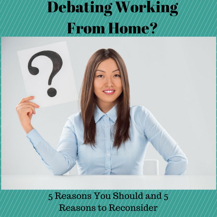 Debating working from home? See why you should and why you should reconsider #WAHM