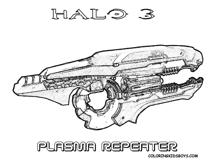 halo 4 gun coloring pages - photo#6