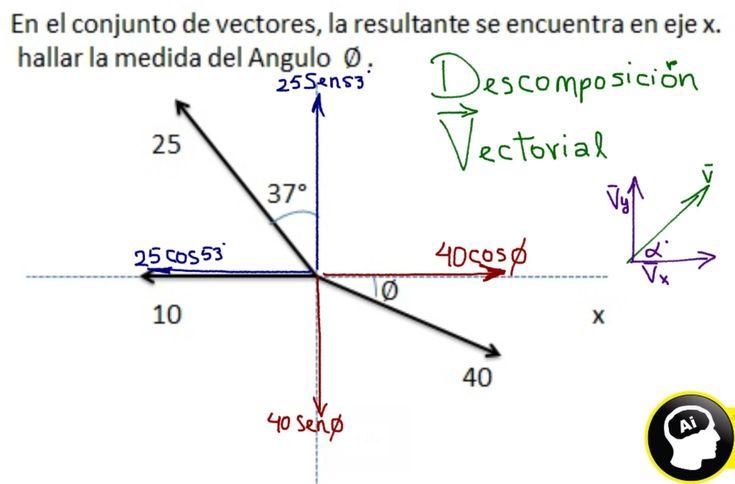 Como se hace la descomposición rectangular de vectores
