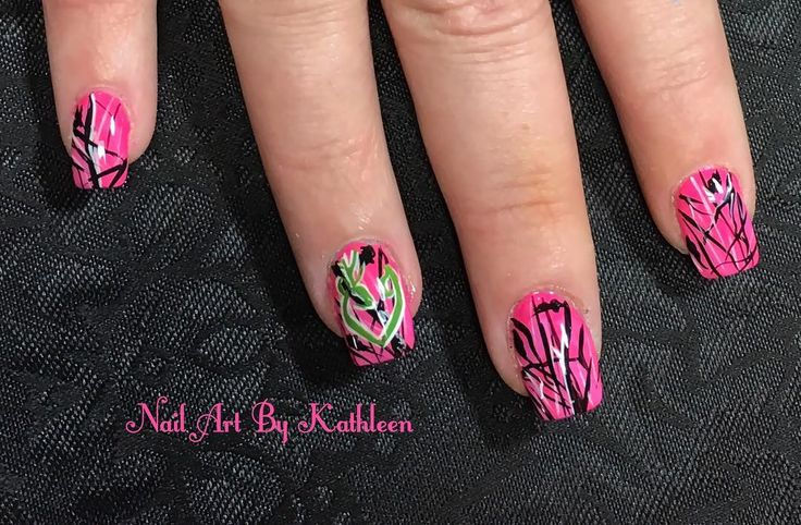 "29 Likes, 1 Comments - Nail Art By Kathleen (@nailartbykathleen) on Instagram: ""Pink Camo #nails #nailart #naildesign #pinkcamo #pinknails #freehand #freehandnailart #browning…"""