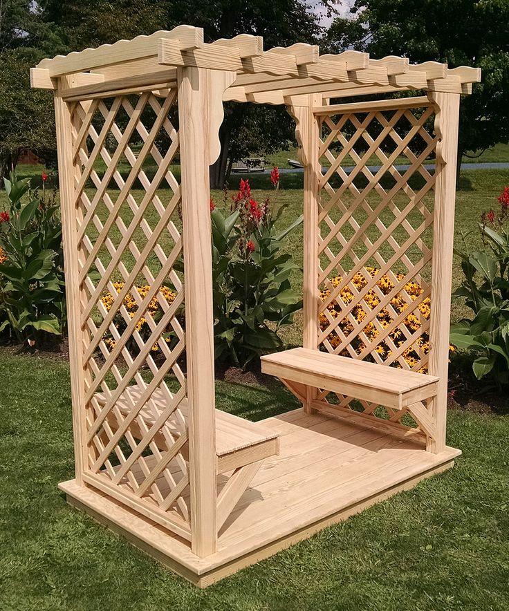 Flat Deck Design Ideas: Loving This Unfinished Square Flat-Top Arbor Pine Lattice