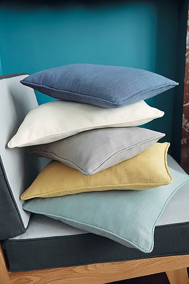 Camengo - Blooms Linen Blend fabric, makes wonderful linen cushions in retro colours  Available in Australia exclusively from The Textile Company.
