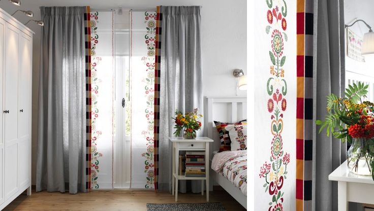 Curtains Or Panel Curtains? Both! The KVARTAL Track System Makes Combining  Them Easy,